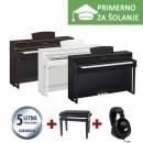 ŠOLSKI KOMPLET - Električni klavir Yamaha Clavinova CLP-635 + KLOP + SLUŠALKE YAMAHA